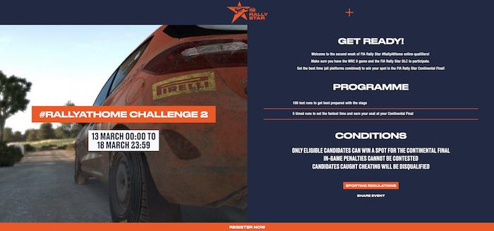 fia rally star challenge